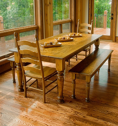 Custom furniture handmade and custom built for Custom kitchen tables and chairs